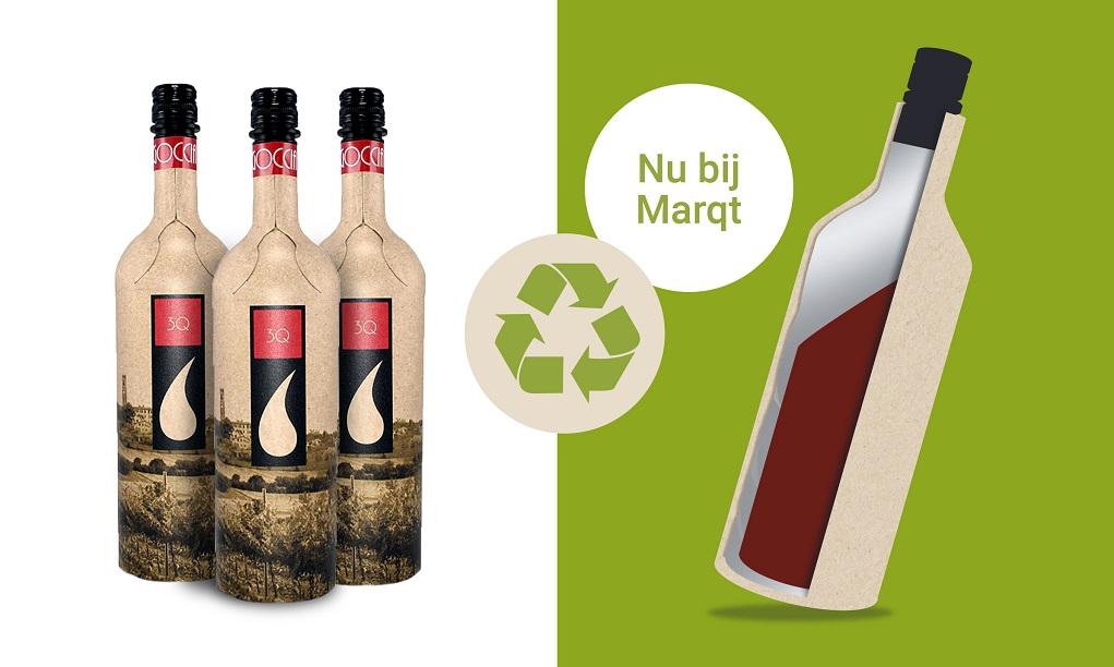 De eerste papieren wijnfles van Nederland – te koop bij Marqt